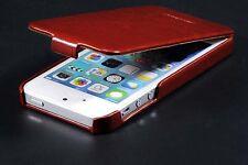 Handy Hülle Tasche Iphone 5 5S SE Braun Pink Rosa Blau Schutz PU LEDER CASE