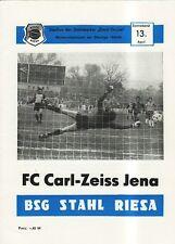 OL 84/85  BSG Stahl Riesa - FC Carl Zeiss Jena
