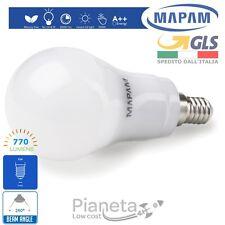 Lampadina LED 7W watt E14 Bulbo Bianco Caldo/Freddo/Naturale Lampada Globo Mapam