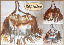Genuine DAISY LOLLIPOP silver gold bronze BIG BOHO TASSEL HANDBAG A2