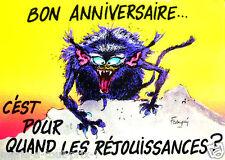 CARTE postale d'anniversaire monstres de Franquin BON ANNIVERSAIRE humour noir