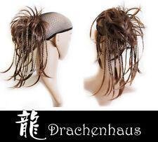 Haarteil Perücke Zopf Haargummi Hochsteckfrisur glatt mit kleinen Zöpfen Neu