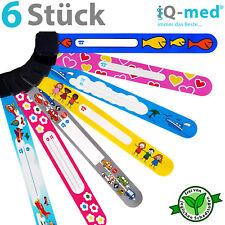 6er Set iQ-med® Kinder Notfallarmband | ID, SOS, Infoarmband, Armband, Kinder