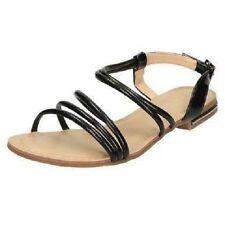 Savannah F0975 mujer charol negro sandalias de verano