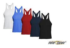 Mens Stringer Gym Vest Body building Muscle Stringer Plain Raftaar Racer Back Y