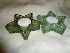 2 Kerzenständer Teelichthalter Stern   ca. 7 cm Glas Geschenk Weihnachten NEU