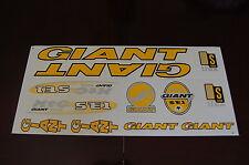 Giant XTC SE1 Stickers Yellow, Black & Silver.