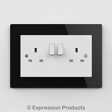 Double / Single Light Switch / Plug Socket Back Plate Finger Surround Panel 001