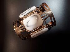 UK Moda Donna Oro/Argento Larghi Braccialetto Bracciale braccialetto gioielli