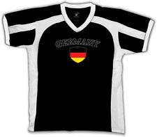 Germany Flag Crest German Deutschland National Country Pride Retro Sport T-shirt