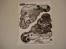advertising Pubblicità 1978 MOTO BIMOTOR/AIM
