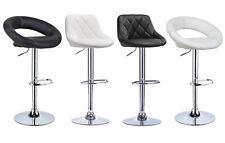 Tabourets de bar en PU lot de 2 réglable chaise du cuisine pivotant à 360° f034