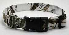 Snow Camo Camouflage True Timber MC2 Dog Collar Adjustable Handmade Custom