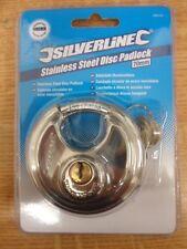 Silverline, Stainless Steel Disc Padlock 70mm.