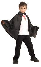 Boys Black Vampire Cape with Collar Hero Unisex Costume Boys Girls Kids Child