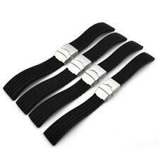 20/22mm Silicone Rubber Watch Strap Band Deployment Buckle Waterproof Belt