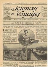 SCIENCES ET VOYAGES 1924 FLEURS DE HOLLANDE EGYPTE STATION D'EPURATION ROUTES