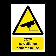 CCTV Surveillance Cameras in Use Rigid Plastic Sign OR Sticker - All Sizes (S26)