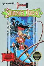 RGC Huge Poster - Castlevania II Simon's Quest Nintendo NES BOX ART III - CAS021