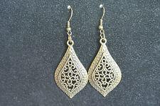 Antique Bronze Charm Drop Pierced Earrings