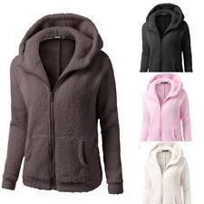 Women Warm Winter Hooded Sweater Coat Wool Zipper Coat Cotton Jacket Outwear/CA