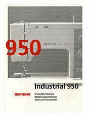 Bernina 940 / 950  Service manual & Parts or Instruction manual on CD / PDF