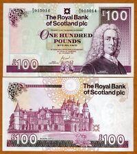 Scotland Royal Bank, 100 pounds 2007, P-New, Gem UNC > Scarce