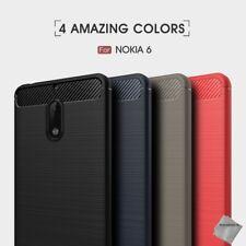 Housse etui coque silicone gel carbone pour Nokia 6 + verre trempe