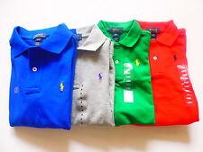 Ralph Lauren Kinder Poloshirt, Langarm Rein Baumwolle Poloshirt T-Shirt