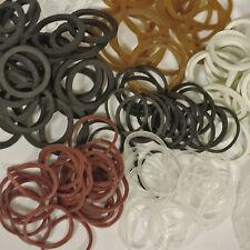 50x Bartgummis f. Bartperlen Schwarz Weiß Transparent Braun Zopfgummi Minigummis