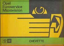 Opel Chevette Microvision 7/80 (1 Cassette ohne Mikrofiche) 1980 Auto PKWs
