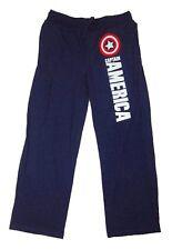 Mens Womens NEW Marvel Captain America Heather Blue Pajama Lounge Pants Sz S-XL