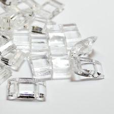 Trägerperlen 17x9x5 mm 2-Loch-Perle Acryl BACATUS umfädeln mit Miyukis kristall