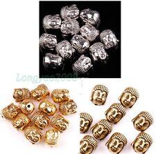 2015 Tibetan Silver Buddha Head Spacer 10x8mm Beads for Jewelry Making 20 Pcs