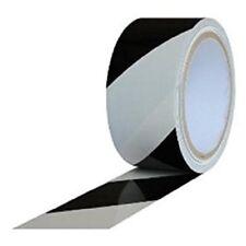 Hazard Warning Striped Vinyl Adhesive Tape (2) Black/White Rolls