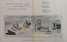 PUBLICITE PARFUM MARCEL ROCHAS FEMME MADAME MOUSTACHE DE 1965 FRENCH AD PERFUME