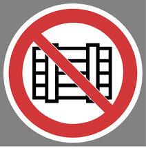 Abstellen und Lagern verboten Aufkleber Sticker Schild Hinweis Verbotsschild