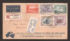 Australia Sc C1, C2, Papua Sc 38, C3 on 1934 AUSTRALIA-PAPUA NG First Flight