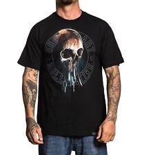 Sullen Art Collective Ulibarri Skull Paintbrush Black Tattoo T Shirt S-3xl Uk