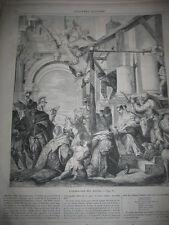 Gravure 1859 - L'adoration des mages