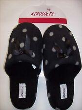 Aerosoles Slippers Womens Polka Dot Satin Bow Plush Slip On Backles Cushiond NWT