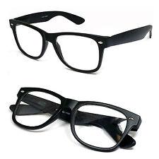 Retro Square Frame Clear Lens Reading Glasses Various Strength Matte Black Frame