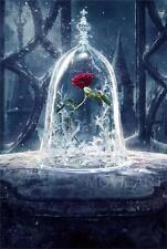 Beauty and the beast neutre pour titre film de disney affiche de film A4 A3 art print cinema