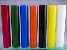 Color Acrílico 19 mm de diámetro PERSPEX REDONDA SÓLIDOS BARRA Rojo Naranja Negro Amarillo blanco