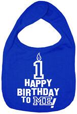 "Baby Birthday Bib ""Happy Birthday to Me"" First 1st One year old Boy Girl Gift"