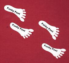 Funky Feet shoe stickers, self adhesive 10 pairs