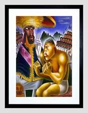 Sátira caricatura política Haile Selassie Joe Lewis enmarcado impresión B12X10953