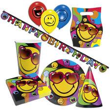 Smiley visage souriant Fête Déco Emoji Anniversaire Décoration de d'anniversaire