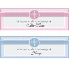 2 Personalised Christening Banner 1st Baby Birthday BAPTISM HOLY COMMUNION