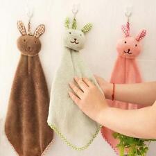 Cute Animal Hand Towel Cartoon Hanging Baby Face Kids Washcloth Bath Water Dry J